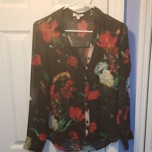 Express long sleeved button up